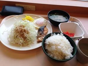 paket komplet sarapan pagi makanan ala Jepang.
