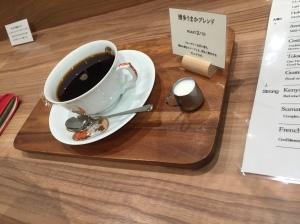 Menu kopi yang dipilih oleh teman saya