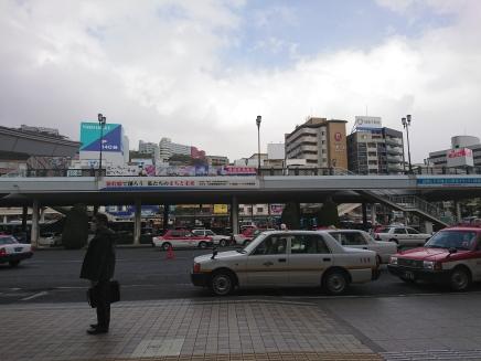 Pemandangan di depan stasiun